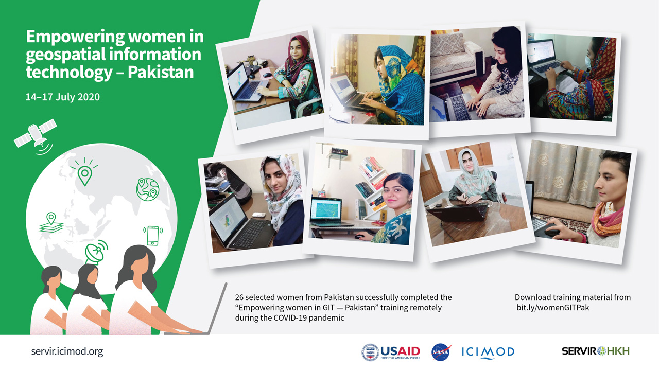 Looking to the skies: Women in Pakistan learn to integrate geospatial information technology into their fields