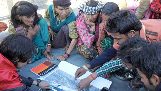 Participatory GIS for building community resilience