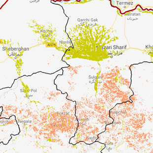 Wheat Mapping Application for Afghanistan